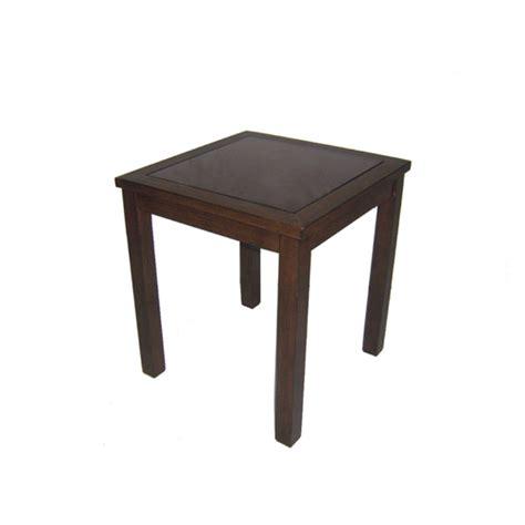 Lowes Patio Side Table by Allen Roth Binkley Patio Wicker Chairs Oak Aluminum Side