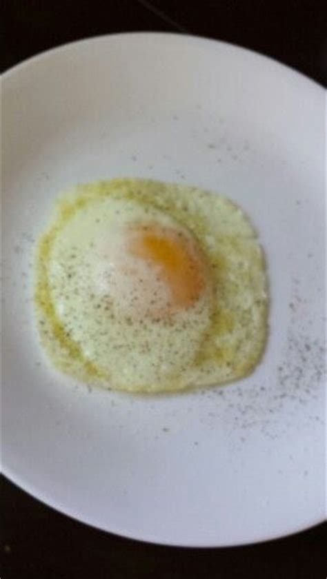 minute fried egg   yellow runny cooked