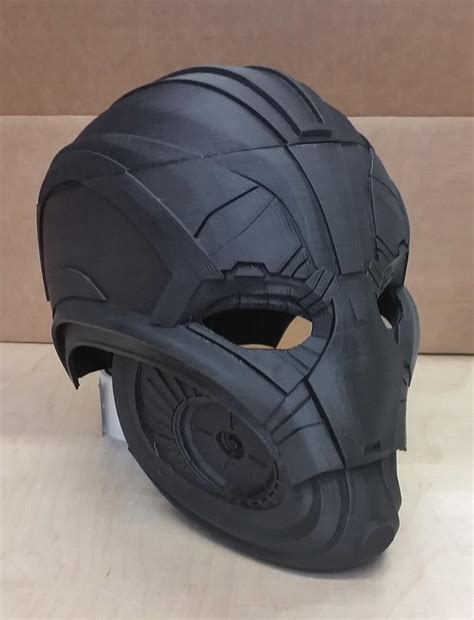printable ultron mask avengers age of ultron cosplay mask is 3d printed by