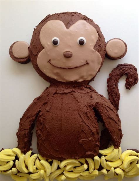 Monkey Template For Cake by 25 B 228 Sta Monkey Cakes Id 233 Erna P 229 Curious
