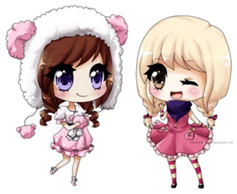 imagenes de anime kawaii de amigas pintando flores brushes meninas kawai o