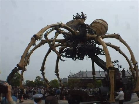 la machina la machine giant spiders in yokohama apr 18 2009 youtube