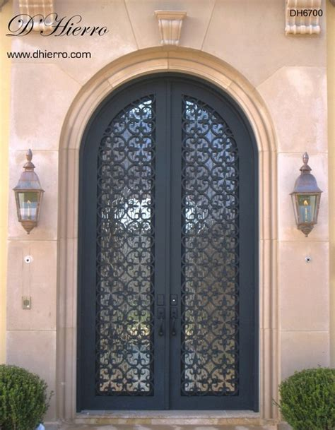 Iron Doors Exterior Mediterranean Exterior Other Iron Front Doors For Homes