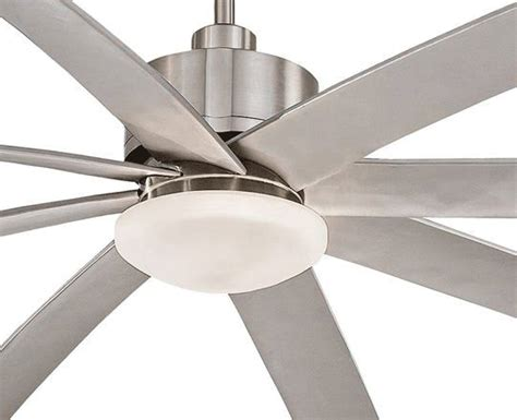 84 Ceiling Fan by Minka Aire 84 Inch Brushed Nickel Slipstream