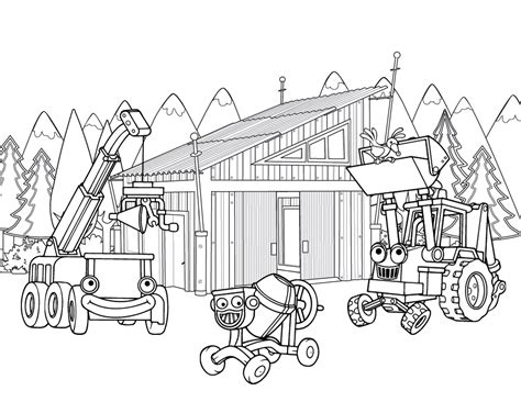 construction coloring pages building sheet ideas for