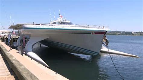 biggest boat ever biggest solar powered boat ever built arrives in halifax