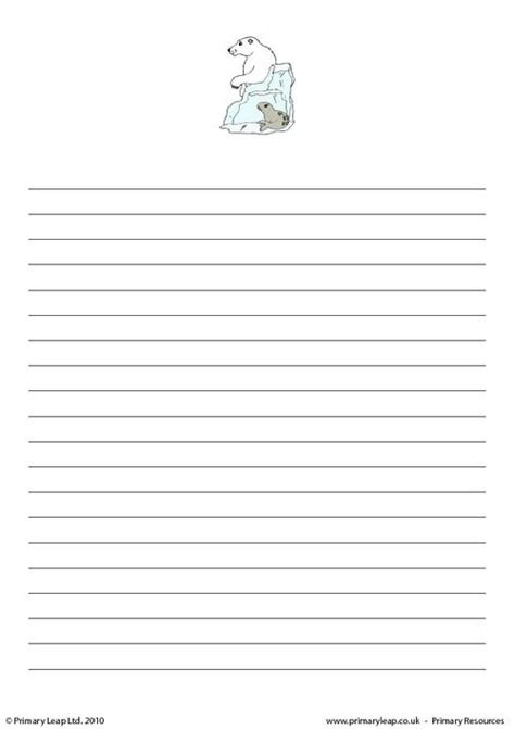 polar writing paper polar writing paper 2 primaryleap co uk
