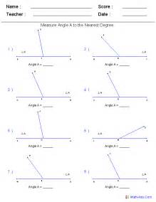 geometry worksheets angles worksheets for practice and study