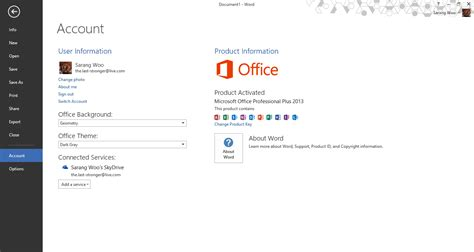 Activate Office 2013 by