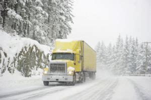 keeping safe in the winter conditions for truck drivers