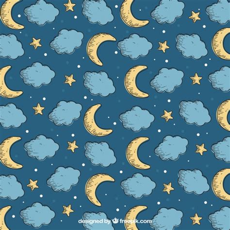 moon pattern collection vector free download