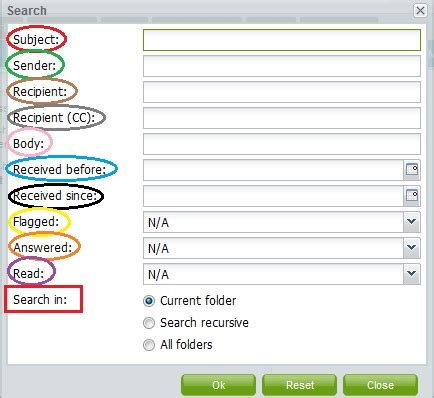 Advanced Email Search Advanced Email Search