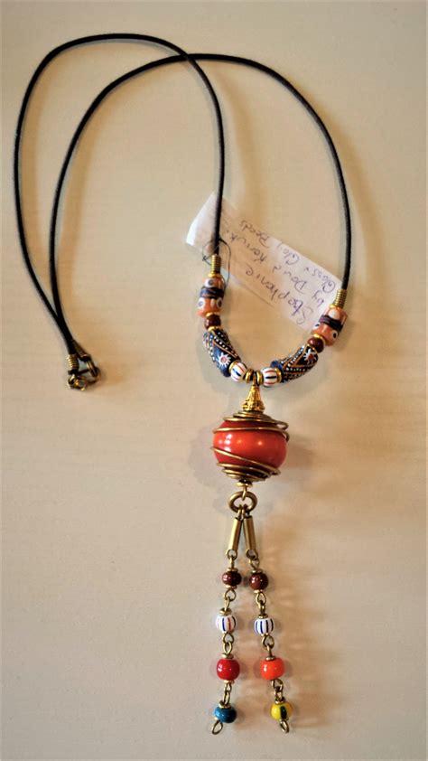 clay bead jewelry clay trade bead necklace aina mojaaina moja