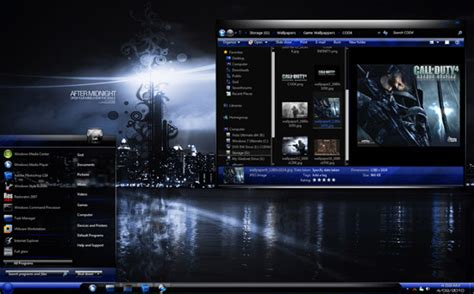 themes for windows 7 blue 30 awesome windows 7 desktop themes