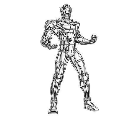 coloring page ultron how to draw ultron
