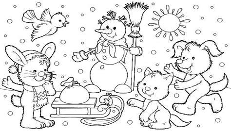 imagenes de invierno infantiles para colorear dibujos de paisajes para pintar imagenes de paisajes