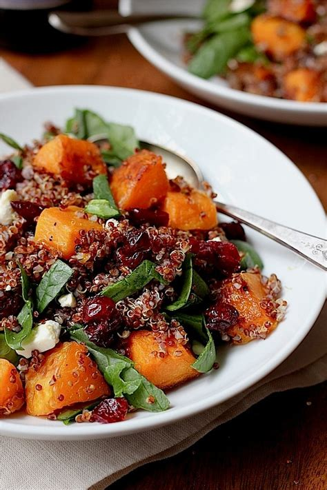 savor home quinoa salad with maple roasted butternut
