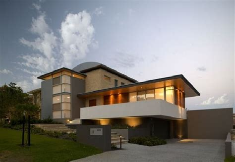 modern house design with curved roof limestone home design