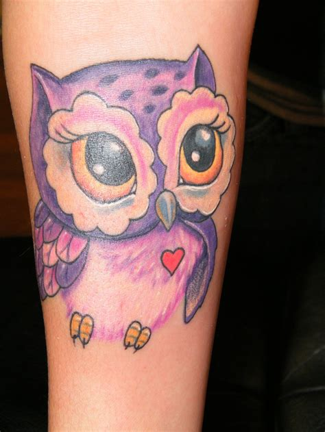 small cute owl tattoos girly owl ink me colors animals and owl