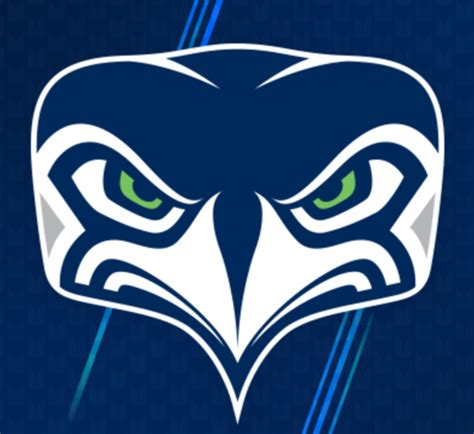 seahawks unveil new alternate face to beak logo