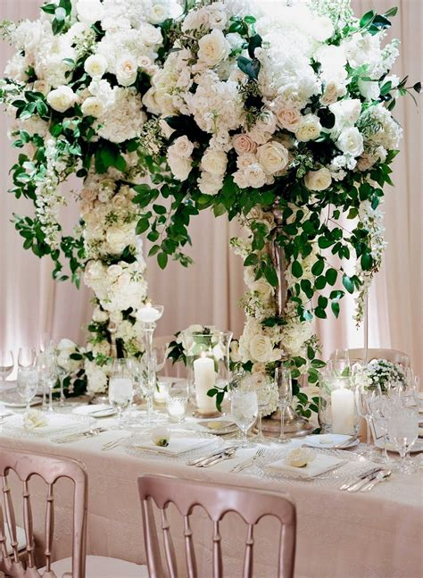 greenery for wedding centerpieces reception d 233 cor photos towering ivory greenery