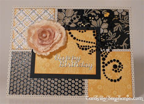 Lemon Handmade Cards - lemon yellow and black floral birthday card cards by