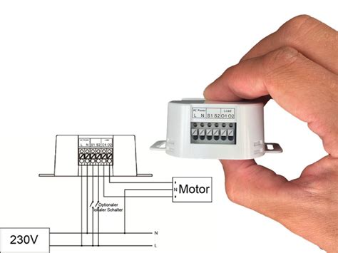 lupusec shutter relais