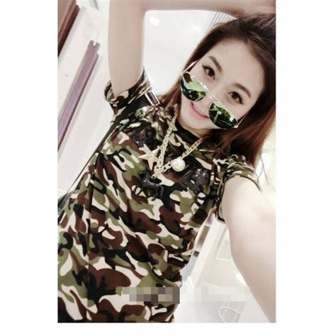 Jumpsuit Wanita Motif Army kaos wanita corak army t1058 moro fashion