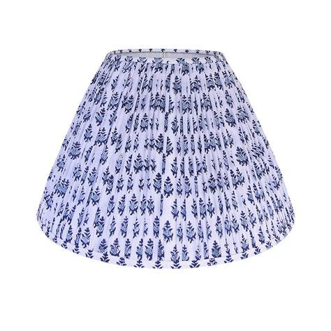 blue block print pleated lamp shade pleated lamp shades