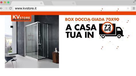 cabine doccia 70x90 kv store box doccia cabina 70x90 cm cristallo trasparente