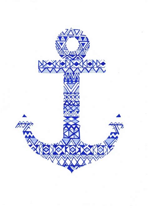 tribal pattern anchor tribal anchor art print tribal designs anchors and