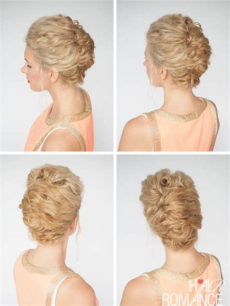 quick and easy romantic hairstyles i love this quick updo for curly hair check out hair