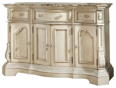 Antique White Sideboards And Buffets ortanique classic server in antique white traditional buffets and sideboards by bedroom