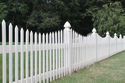 picket fences picket fence vinyl fence in over a dozen picket styles
