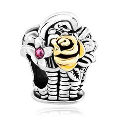 Pandora Refined Basket Of Flowers Twotone Charms P 769 anniversary gifts on pandora charms and ku