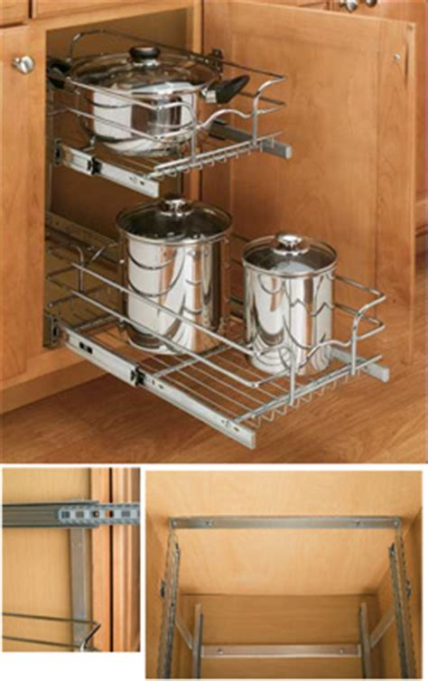 double pull  wire basket shelves