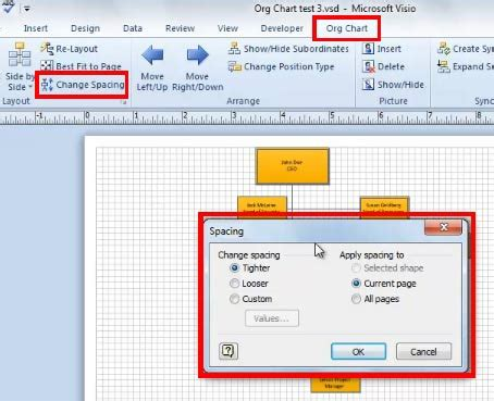 visio 2010 fit to page how to best fit your organization chart to a page using