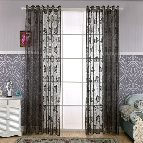 dark grey sheer curtains online get cheap dark grey curtains aliexpress com