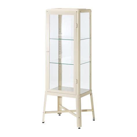 FABRIKÖR Glass door cabinet   beige   IKEA