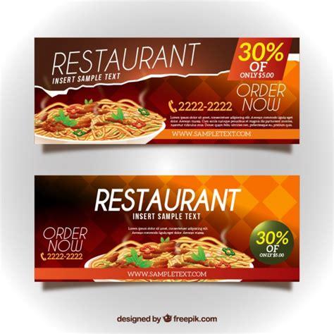 design banner for restaurant restaurant discount banners vector free download