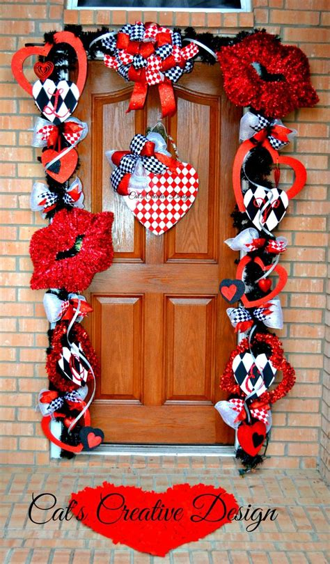 door decorations for valentines valentines door d 233 cor cat s home decor my