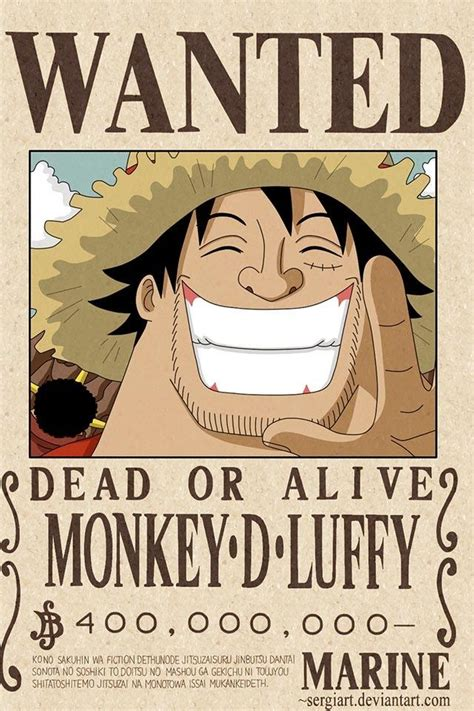 membuat poster buronan one piece luffy s latest wanted poster onepiece