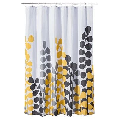 target grey shower curtain vine shower curtain yellow gray room essentials target
