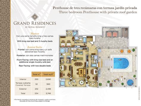 roof garden floor plan four bedroom grand residence