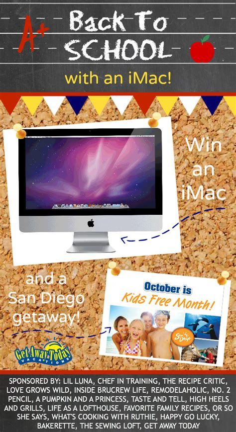 Imac Giveaway - back to school with an imac giveaway