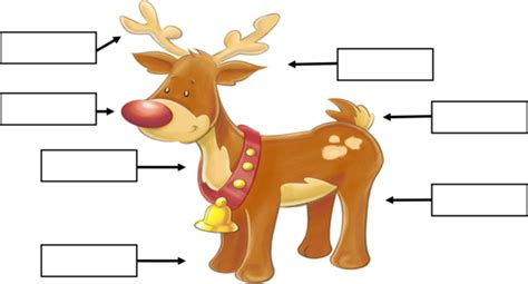 printable reindeer tails label the parts of a reindeer grade 1 free printable