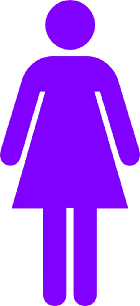 female bathroom symbol purple female restroom symbol clip art at clker com