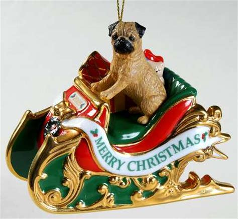 us mint christmas ornaments danbury mint annual pug ornament at replacements ltd