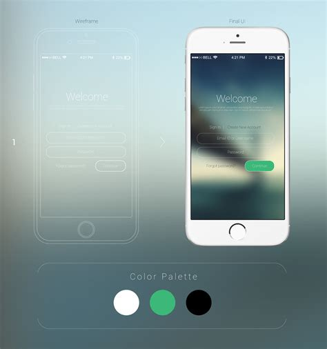 3 mobile login mobile login ui design options on behance