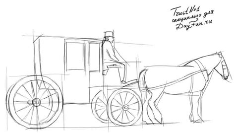 Outline Of A Carriage by How To Draw A Carriage Step By Step Arcmel